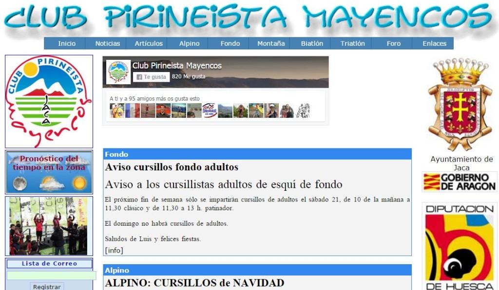 Antigua Web Mayencos