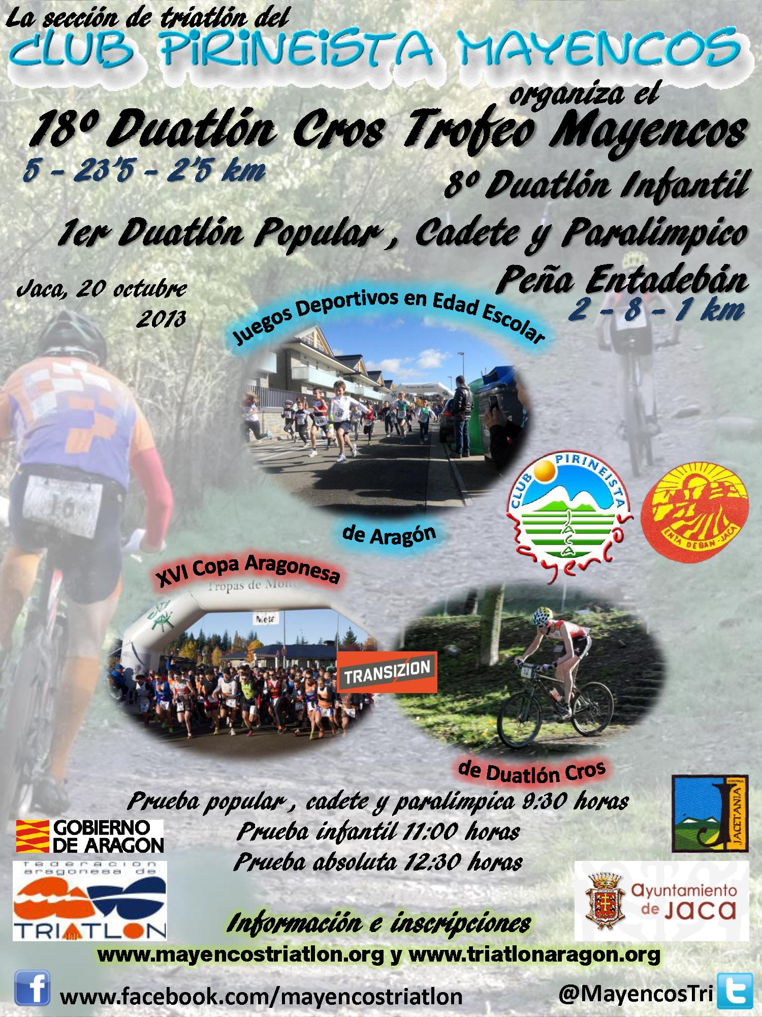 Cartel Duatlón Trofeo Mayencos 2013