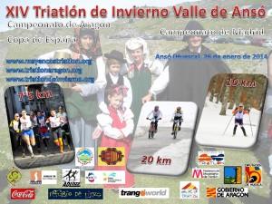 Cartel Triatlón de Invierno de Ansó 2014 v.2