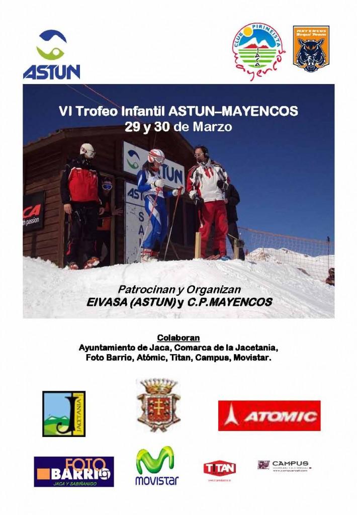 Cartel VI Trofeo Infantil Astún-Mayencos 2014