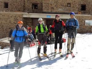 Los esquiadores del grupo