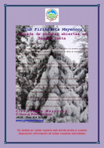 Cartel jornadas Mayencos SS 2014