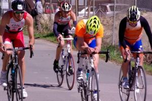 Segmento de ciclismo de un duatlón