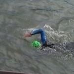Natación en el río Arga
