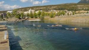 Entrenando en los lagos de Las Margas
