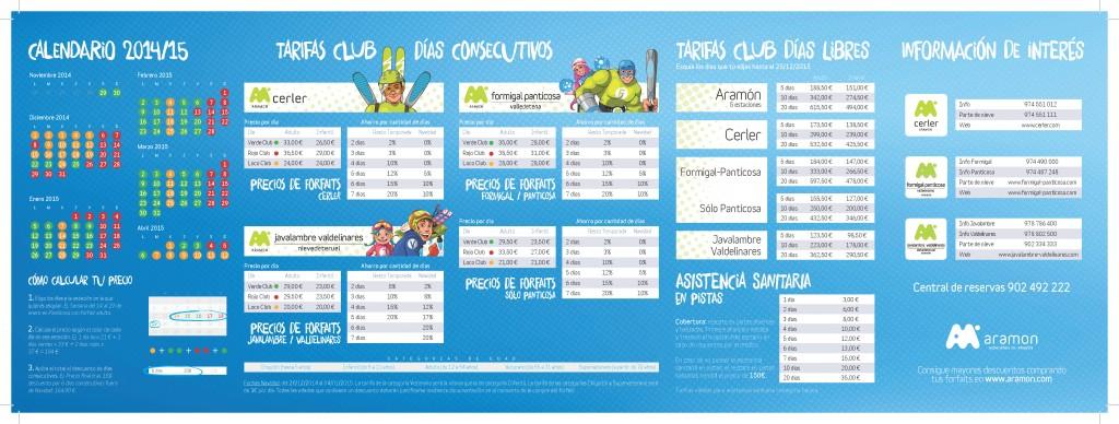 Aramón. Tarifas Club 2015