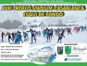 Cartel Trofeo Stadium Casablanca 2015