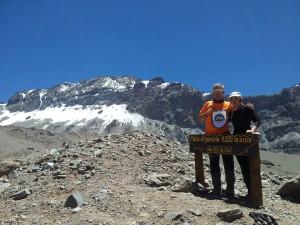 Javier y Marisa en el Aconcagua