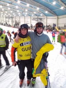 Marc Oller y su guía Hugo Quintero