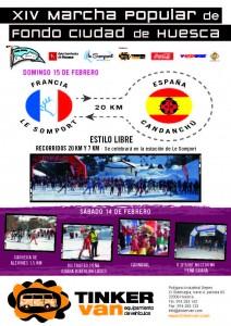 Cartel XIV Marcha Popular Ciudad de Huesca
