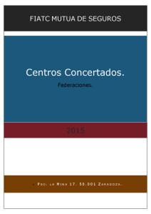 CENTROS CONCERTADOS FEDERACIONES