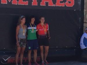 Yolanda en el podio del Campeonato de Aragón absoluto