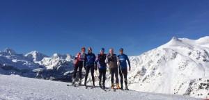 Día espléndido de esquí.