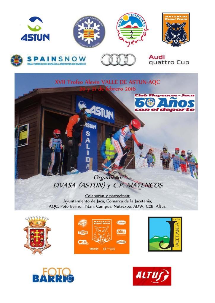 Cartel Trofeo Alevín Valle de Astún 2016