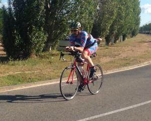 Segmento de ciclismo, sin drafting.