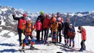 Esquí de fondo en el glaciar de Tignes.