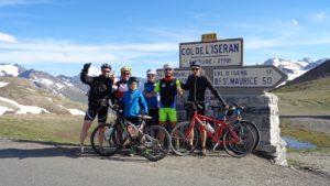 Ascensión en bicicleta al Col de L'Iseran.
